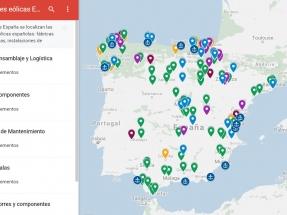 Este es el mapa interactivo de la eólica española