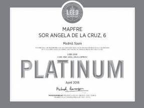 Mapfre consigue el certificado de sostenibilidad LEED Platino para uno de sus edificios de oficinas