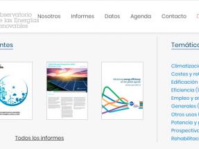 Nueva plataforma web para seguir el desarrollo de las energías limpias