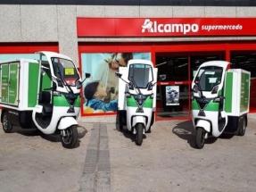 Alcampo Madrid usará triciclos a pedales y vehículos eléctricos y a gas para sus repartos a domicilio
