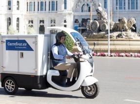 Carrefour apuesta por los triciclos eléctricos para hacer sus repartos