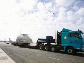 Gas Natural Fenosa Renovables inicia el transporte de los aerogeneradores a sus primeros parques eólicos de las Islas Canarias
