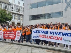 La Xunta y los trabajadores de Vestas acuerdan crear una mesa para identificar soluciones que eviten el cierre de la factoría de Viveiro