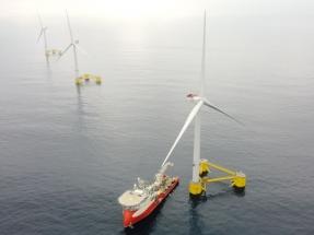 Portugal, donde tres aerogeneradores flotantes producen electricidad para 60.000 personas