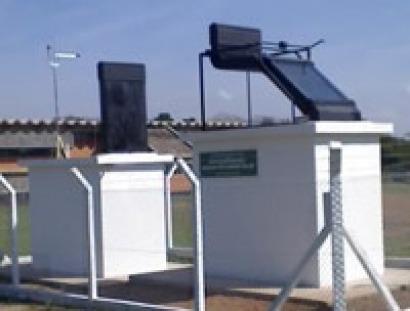 Una chimenea solar refrescante
