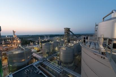 Primera planta de producción de etanol de segunda generación a gran escala