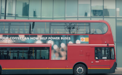 Los posos de café mueven a los famosos autobuses rojos de Londres