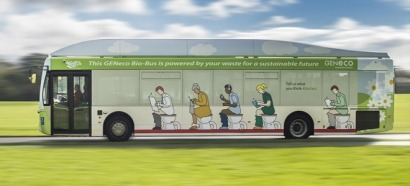 Los vecinos de Bristol viajan en autobuses movidos por sus desperdicios