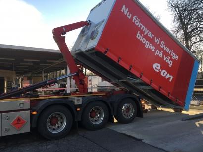 España llega al principal mercado del biometano para transporte de Europa, Suecia, con los contenedores de Calvera