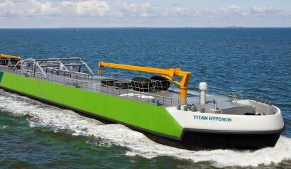 Barcazas con biometano para el abastecimiento de gas a otros barcos