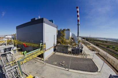 Ence ultima la planta de biomasa de Huelva con la incertidumbre de si seguirá en Pontevedra