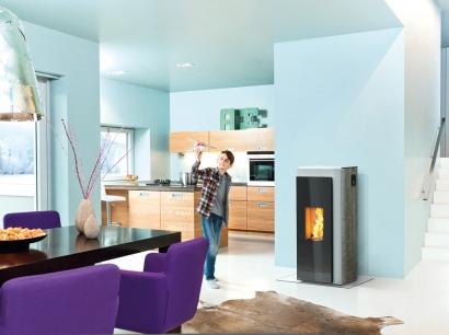 Una estufa moderna de biomasa reduce casi en un 60% las emisiones de partículas con respecto a una antigua