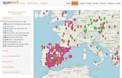 Mapa para saber quién produce, consume y distribuye agrobiomasas en Europa