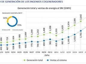 En dos décadas, la generación por bagazo de caña alcanzó los 700 MW de capacidad y ya equivale al 27% de la matriz energética