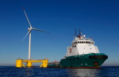 Comienza la instalación del primer parque eólico flotante en Europa continental