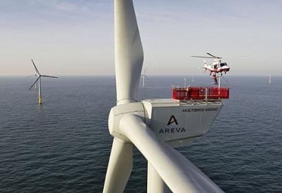 Areva quiere suministrar tecnología eólica offshore 100% francesa