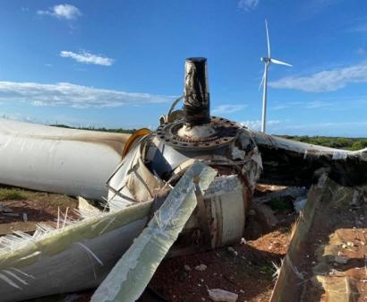 Piauí: Un aerogenerador de Gamesa se desploma en un parque eólico de la compañía eléctrica Omega Geração