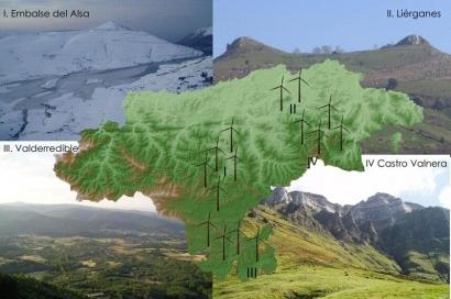 Los ecologistas cántabros, preocupados por el desarrollo eólico