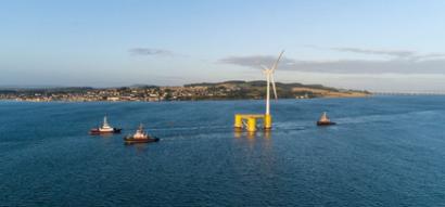 El parque eólico flotante Kincardine recibe 417 M€ en financiación y la certificación de ser amistoso con el clima