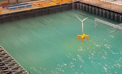 Ensayo del primer prototipo de la plataforma eólica flotante Nautilus