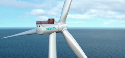 Siemens instala un prototipo eólico marino de siete megavatios