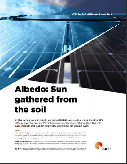 El seguidor SF7 Bifacial de Soltec alcanza una ganancia bifacial del 16,2%