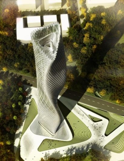 El edificio de las mil turbinas eólicas