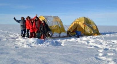 El trineo de viento culmina la circunnavegación de Groenlandia