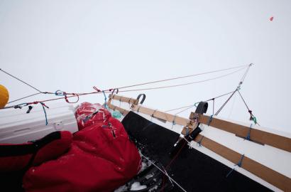 El Trineo de Viento cruza el círculo Polar Ártico