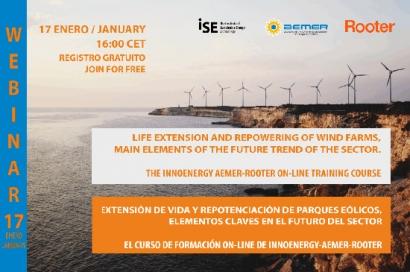 Aemer organiza un webinar gratuito sobre extension de vida y repotenciación de parques eólicos