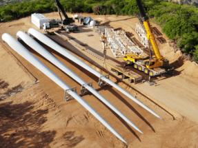 El complejo eólico Chafariz, de 471,2 MW, inicia el montaje de sus 136 aerogeneradores