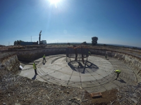 Avanzan las obras del primer aerogenerador comunitario de España