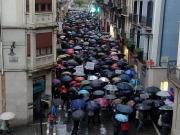 Los trabajadores de Gamesa se manifiestan en Pamplona