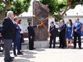El presidente de Aragón preside el comienzo de las obras del proyecto Goya