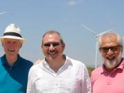 Bill Clinton visita un parque eólico