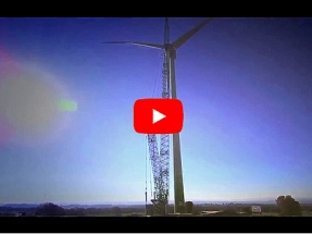 El aerogenerador de 'Vivir del Aire del Cielo' se conecta a red la próxima semana