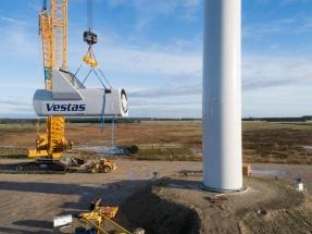 Vestas obtiene un pedido por 168 MW eólicos