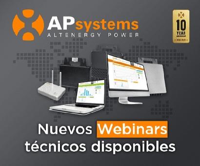 APsystems lanza varios webinars sobre la última generación de microinversores