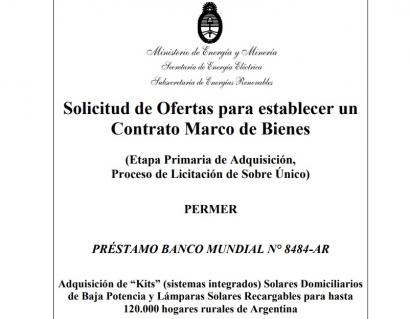 ARGENTINA:El Gobierno licita la compra de 120 mil sistemas fotovoltaicos hogareños