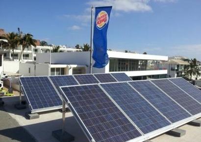 Burger King apuesta por el autoconsumo en Lanzarote