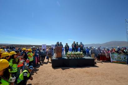 Inauguran la primera fase de la planta fotovoltaica Oruro, de 50 MW