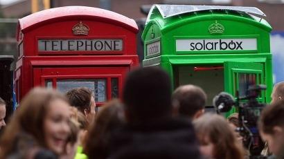 Las cabinas telefónicas de Londres se transforman en cargadores para móviles