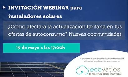 ecovatios organiza un webinar dirigido a instaladores para analizar la Circular 3/2020 y las nuevas oportunidades del autoconsumo
