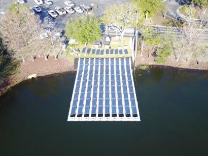 EEUU: Orlando: Inauguran una planta fotovoltaica flotante, instalada en un embalse de riego