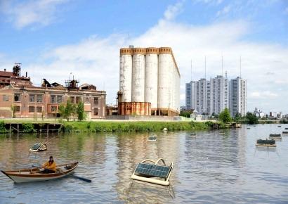 Un estudiante argentino diseña una boya solar para descontaminar ríos