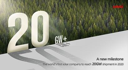 LONGi, primer fabricante solar en superar los 20 GW en envíos de módulos en 2020