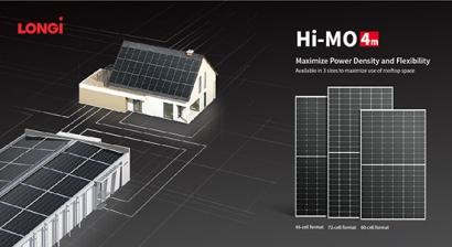 LONGi lanza el nuevo módulo Hi-MO 4m de 66 células pensado para la generación distribuida
