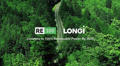 LONGi se une a la iniciativa RE100 y se compromete a ser 100% renovable en todas sus operaciones globales para 2028