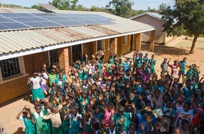 Energía solar para una escuela de Malawi