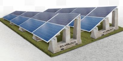 Pretensados Durán lanza un nuevo desarrollo de soportes de hormigón para paneles solares: Solarbloc® H-S/18